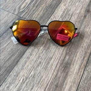 Betsey Johnson heart shaped sunglasses